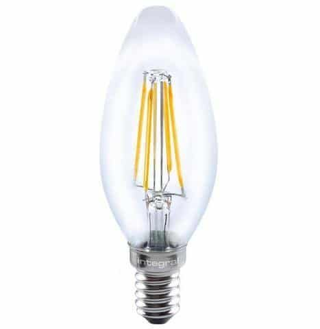 Integral Dimmable Filament Candle Lamp E14 SES 3.5W