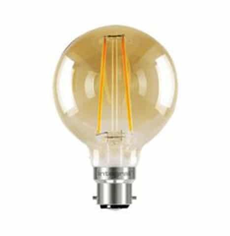 Integral Dimmable Filament Decorative Globe Lamp 80MM B22 BC 2.5W